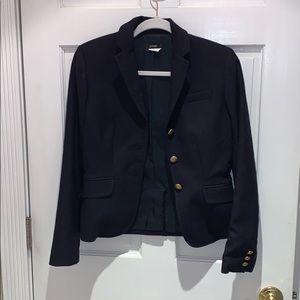 J crew navy blue school boy blazer